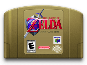 legend of zelda N64 game cartridge