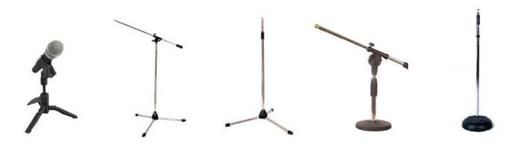 microphone stand types for recording vocals at home