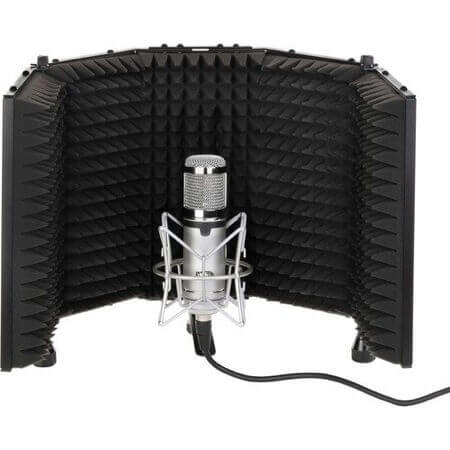 a reflection filter keeps your home vocal recordings free of acoustic problems like comb filtering