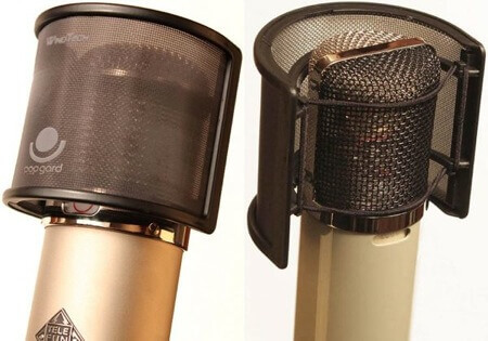 windtech popgard pop filter to get rid of plosives in vocal recordings
