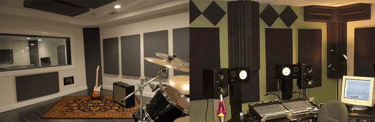 acoustic panels and foam
