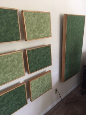 complete acoustic treatment DIY bass trap project