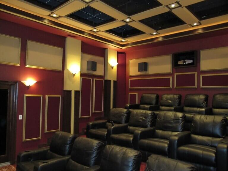 home theater with acoustic treatment