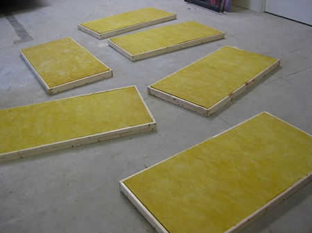 wooden frames for absorption panels