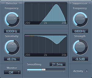 logic pro de-esser to get rid of sibilance in vocal recordings