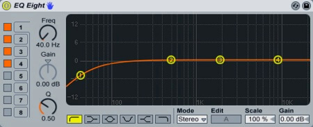 low roll-off equalization to reduce plosives in audio