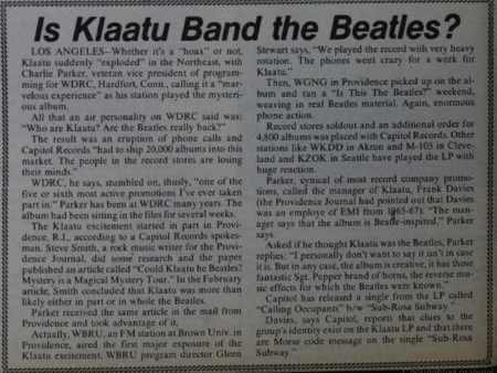 more klaatu speculation