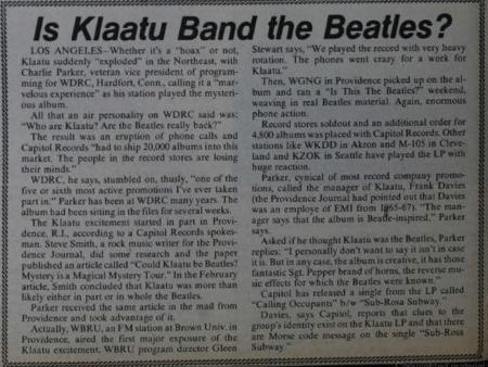 more klaatu speculation