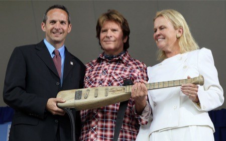 Fogerty Baseball Hall of Fame Bat Guitar