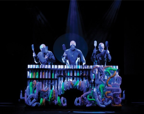 blue man group PVC pipes