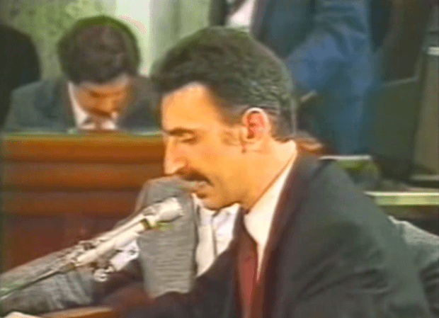 frank zappa PMRC senate hearing 1985 over the parental advisory sticker