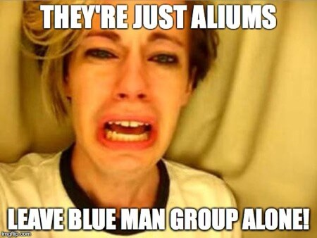 leave blue man group alone