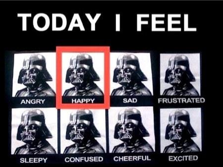 darth vader feels happy