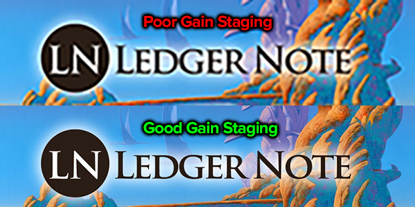 example of good and bad gain staging