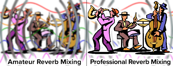 professional reverb mixing versus amateur mixing which lacks clarity and is muddy