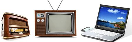 music on radio versus television versus internet