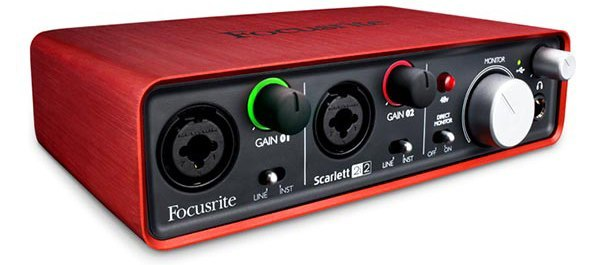 audio interface for microphone recording