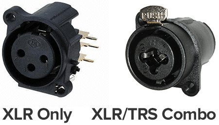 interface inputs XLR TRS
