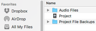 recording project folders are the best music production tips when working with other audio professionals
