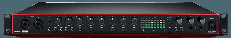 focusrite scarlett 18i20 digital audio interface