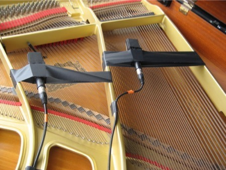 close miking an acoustic grand piano with gaff tape