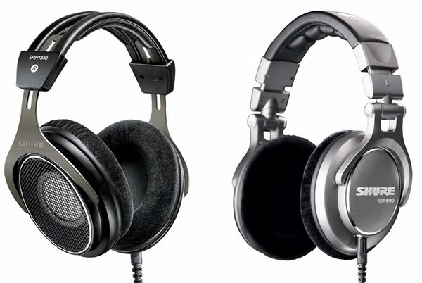 closed and open back studio headphones