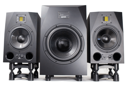 adam a8x monitors with adam sub 12