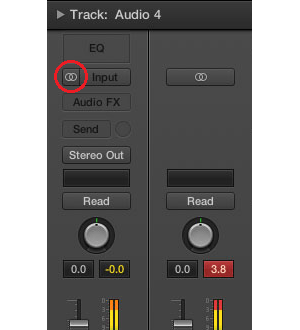 stereo to mono button in logic pro