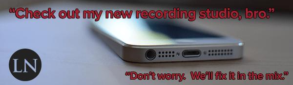 iphone music recording