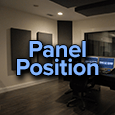 acoustic treatment panel position