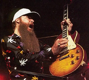 billy gibbons with the pearly gates les paul electric guitar