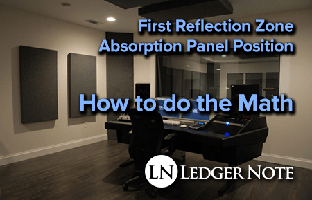 first reflection zone for acoustic treatment panel