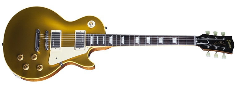 gold top gibson les paul electric guitar