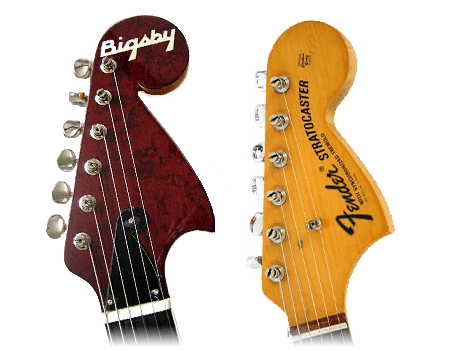 bigsby vs fender headstock