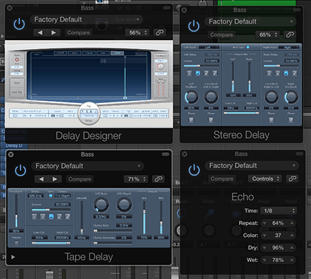 logic pro delay effect plugins