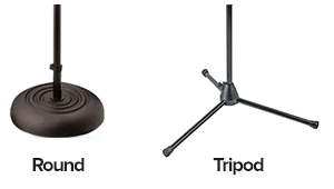 round base versus tripod base on microphone stands