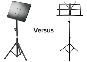 solid versus wire music stands