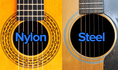 nylon versus steel guitar strings