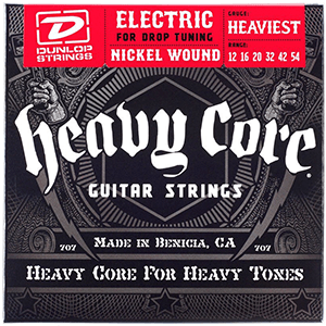 dunlop heavy core guitar strings for metal
