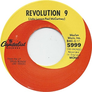 the beatles revolution 9 record sticker