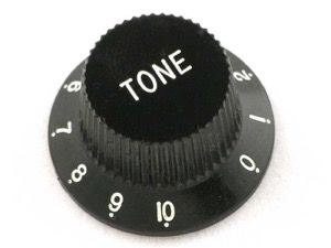 black tone knob from guitar