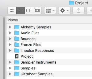 logic pro project files