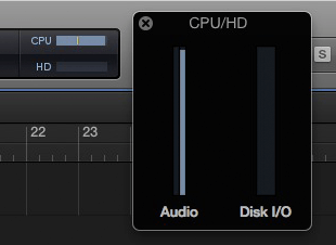 logic pro x cpu usage