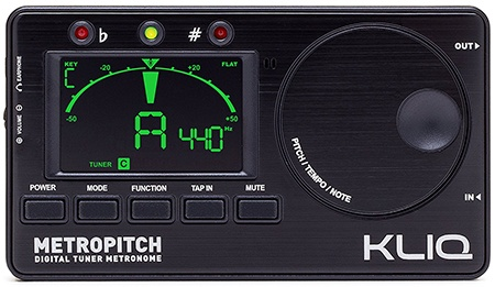 kliq metropitch digital handheld guitar tuner