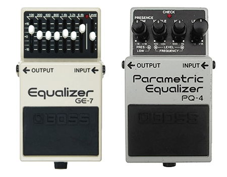 guitar equalization pedals graphic and parametric