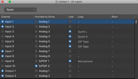 logic pro input naming