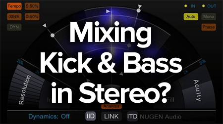 mixing kick and bass in stereo