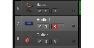 multitrack recording button