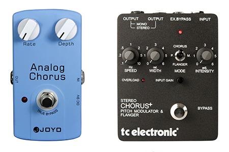 simple versus complex chorus pedal