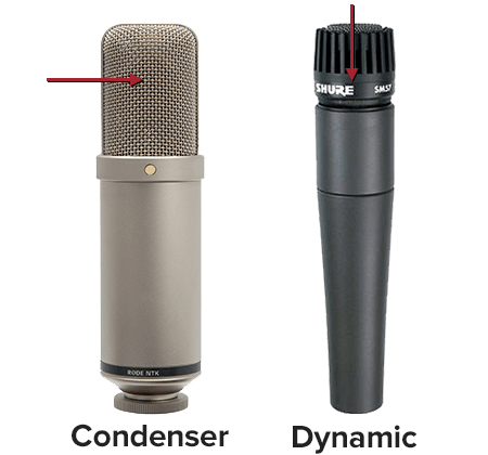 condenser mic and dynamic mic